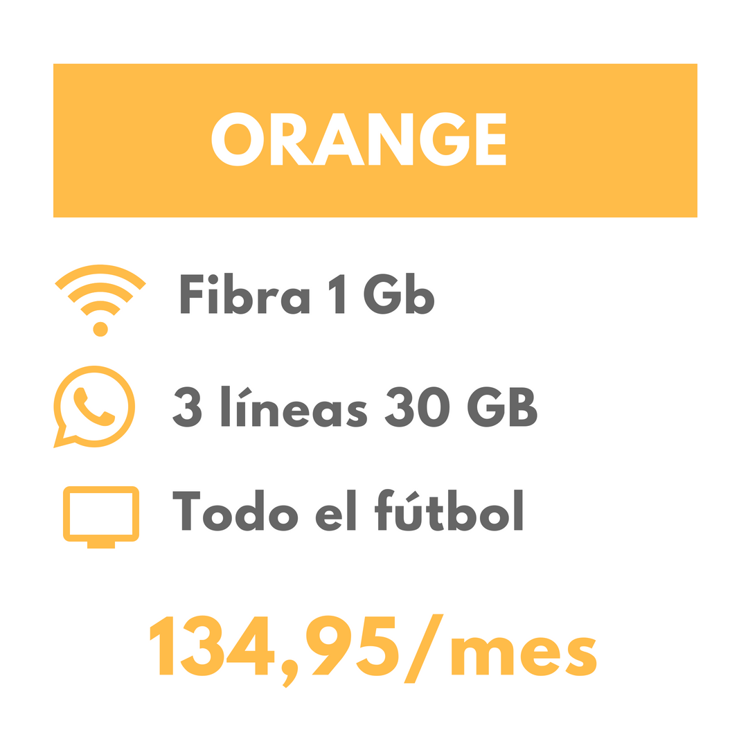 Oferta fútbol Orange