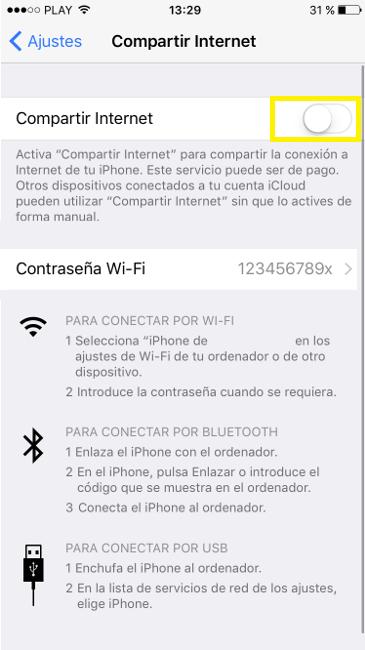 tethering iOS